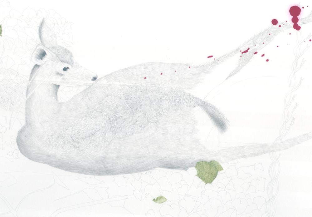 the deer, detail